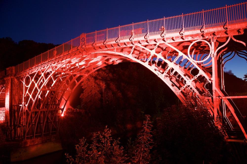 ironbridge lit up