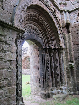 Arch & tympanum - processional door