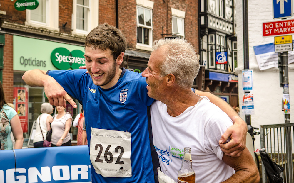 Bridgnorth Walk - Credit Andy Darby Runner up Andy Simmonds congrats Winner Andy Rawlings