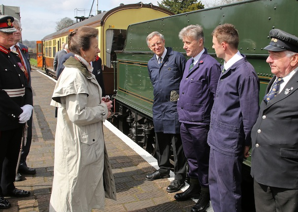 Visit of HRH The Princess Royal to the Severn Valley Railway. 13 Apr 2015