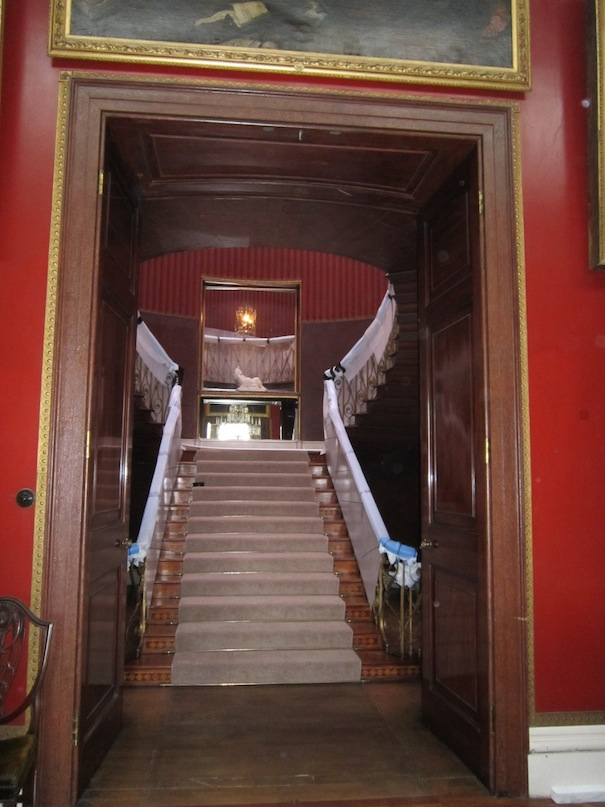 Jean. Nash staircase being prepared for conservation