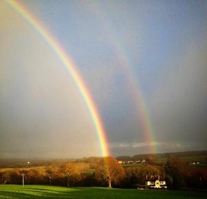 Rainbow over Meadowley
