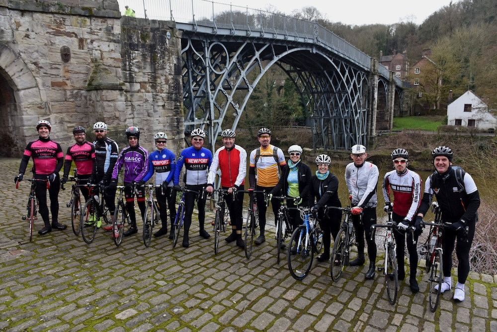Four times World Pursuit Champion Hugh Porter joins the Round the Wrekin Sportive riders to promote the cycle ride for Compton Hospice